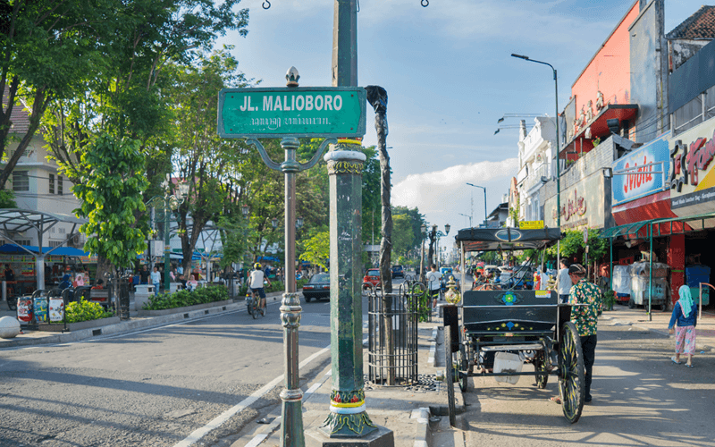 Malioboro is the most famous street in Yogyakarta