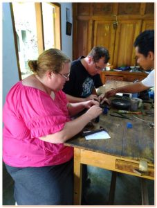 Learn all about the silver making process from a true artist in his workshop in Yogyakarta.