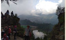 Dieng Plateau Telaga Warna the Color changing Lake