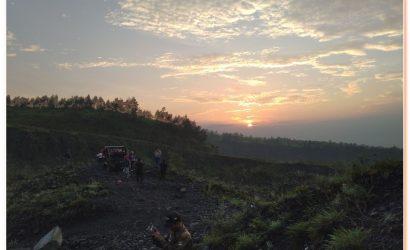 Trekking up most active Merapi volcano