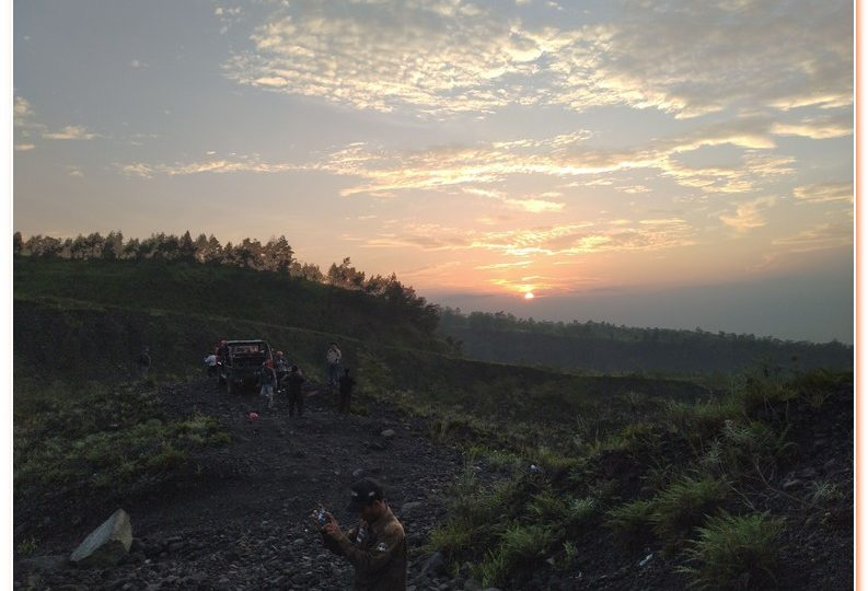 Trekking up most active Merapi volcano