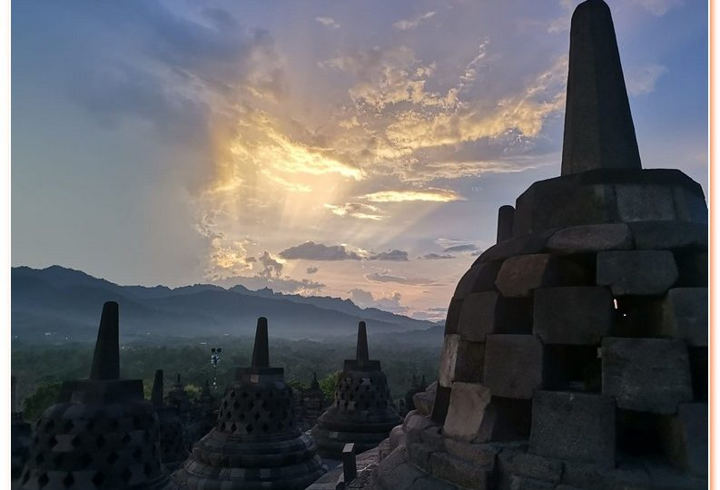 Start hunting the sunrise at Borobudur Temple