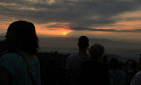 The morning charm at Punthuk Setumbu hill Borobudur