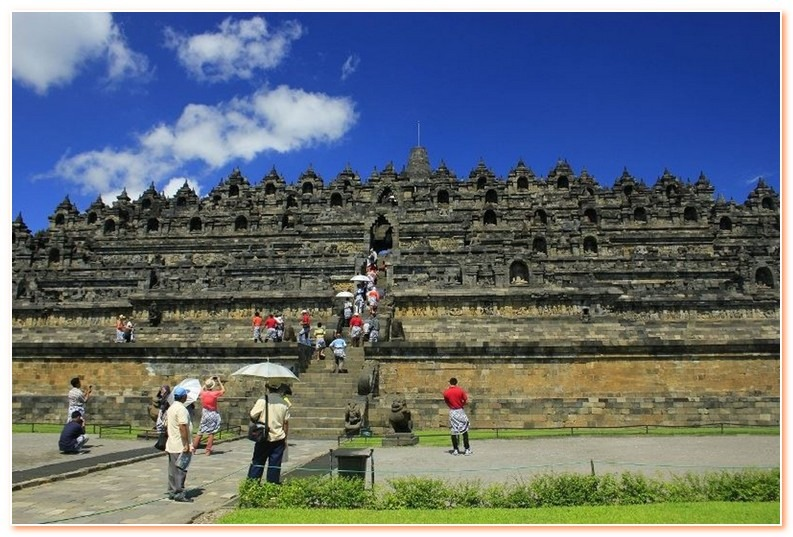 Borobudur Temple is a 1200 year old temple