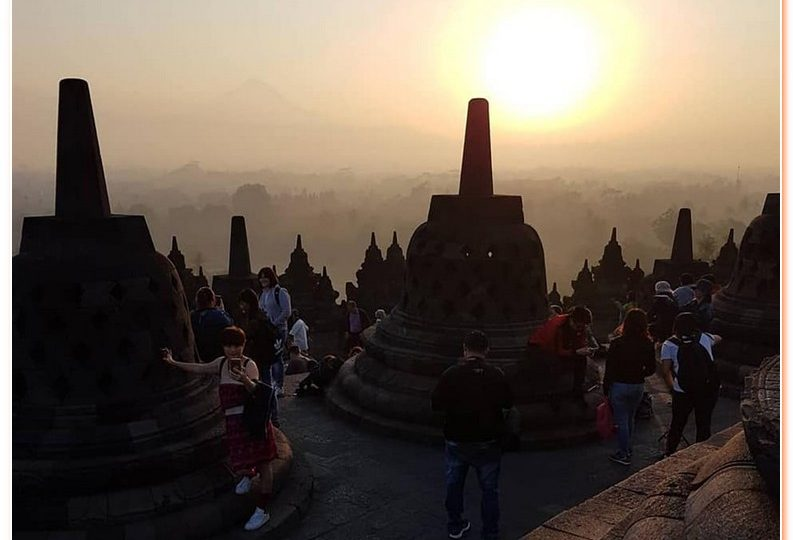 Serene Experience at Borobudur Temple