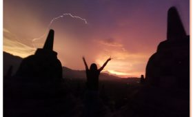 Watching the sun rise over the Temple of Borobudur is a trip to Java highligh