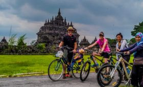 Prambanan cycling tour is heritage cycling trip